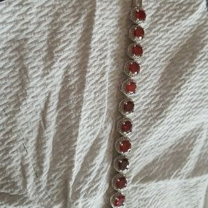 Jewelry - Breath taking red crystal bracelet
